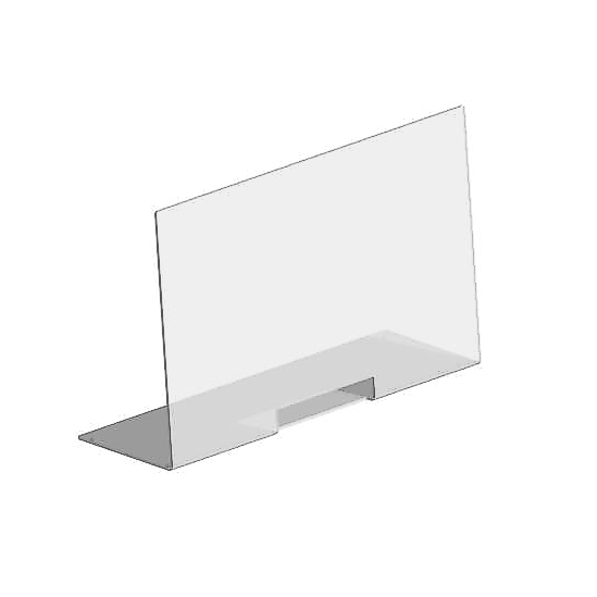 Thekenschutz L-Form, 800x500x6 mm