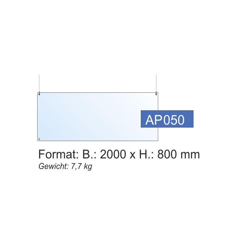 Deckenschutz, 2000x800x4 mm