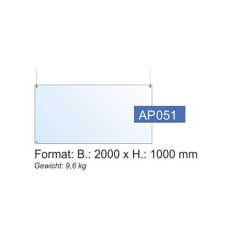Deckenschutz, 2000x1000x4 mm
