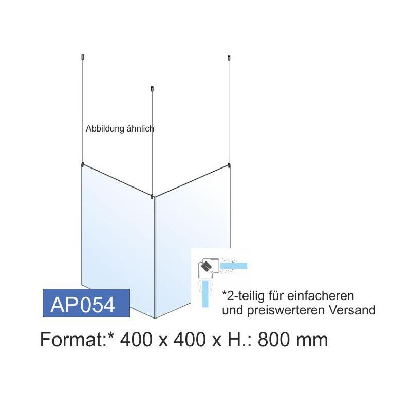 Deckenschutz, Ecklösung, 400x800x4 mm