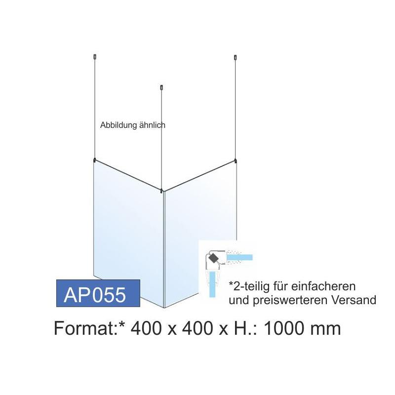 Deckenschutz, Ecklösung, 400x1000x4 mm
