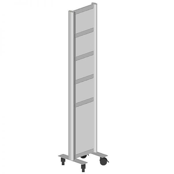 Infosystem, 5 Tafeln, 180x40x40 cm