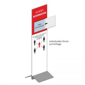 Kunden-Infosystem, Einschub, 140x40 cm