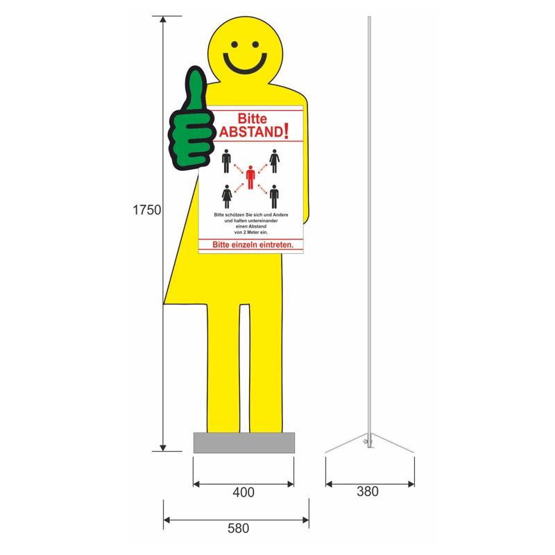 Info-Man, 175x60 cm