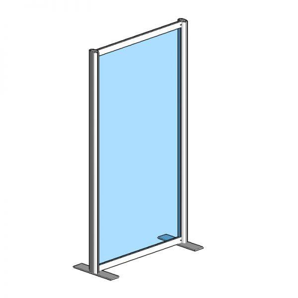 Raum Trennwandsystem, Sicherheitsglas ESG, 180x100x40cm