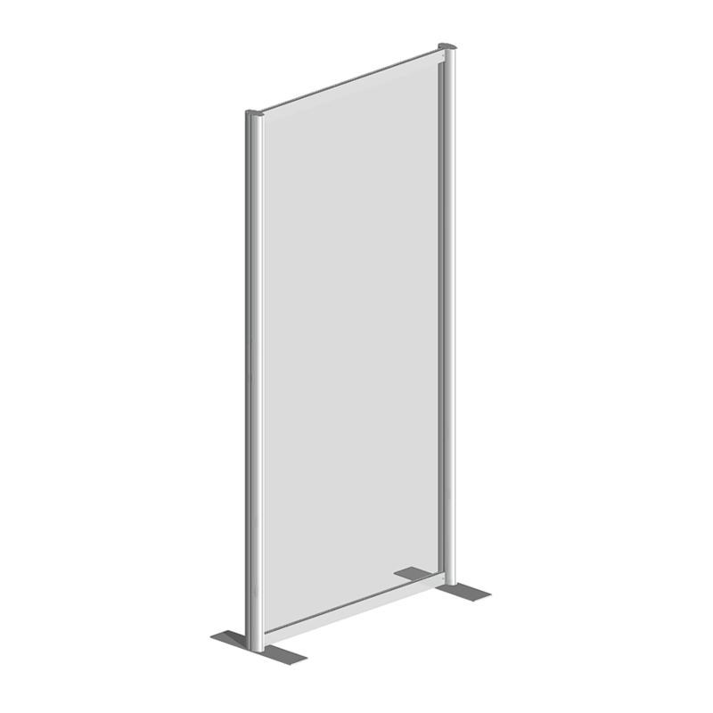 Raum Trennwandsystem, Sicherheitsglas ESG, 200x100x40cm